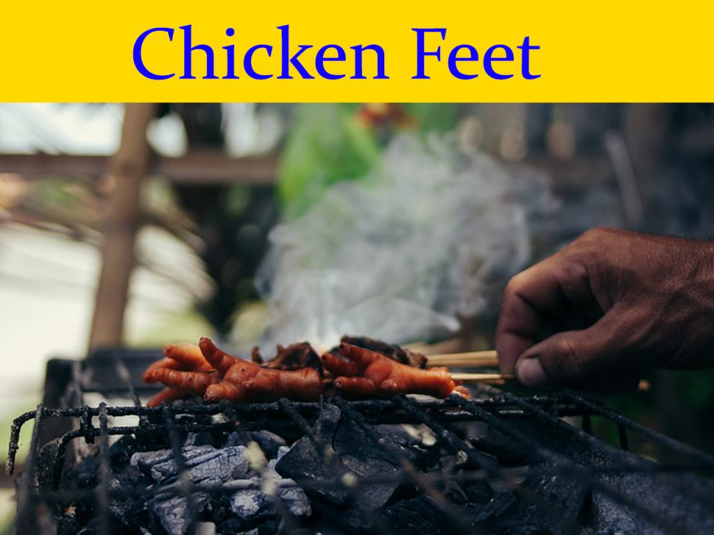 Chicken feet bbq