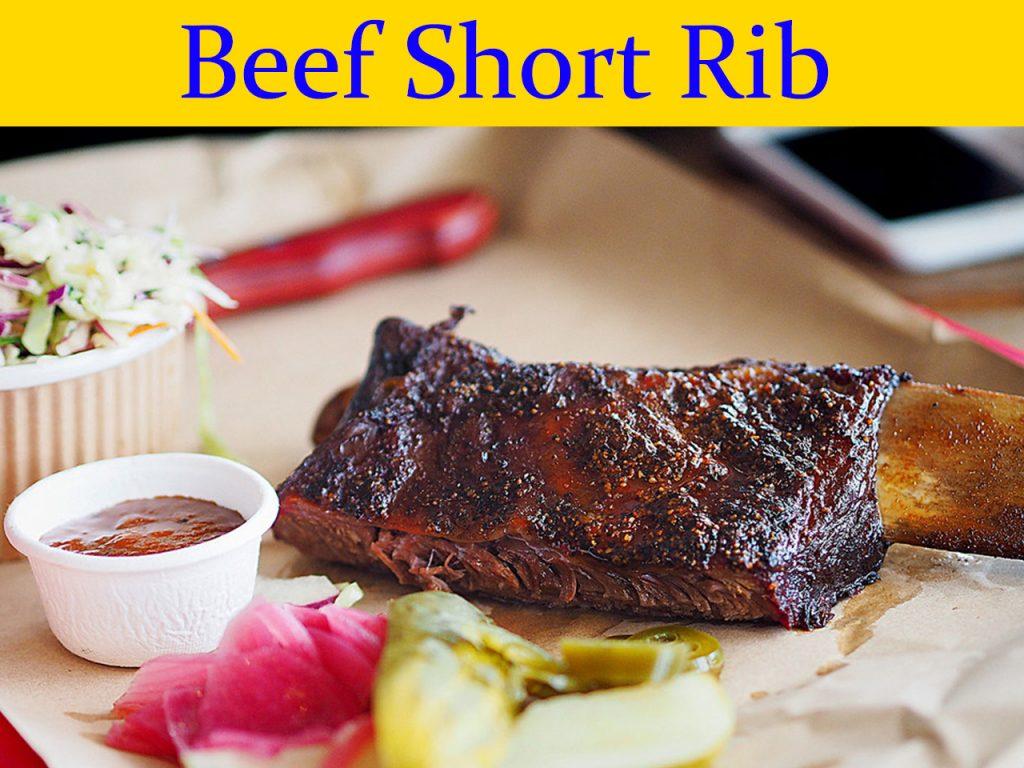 Beef short rib bbq
